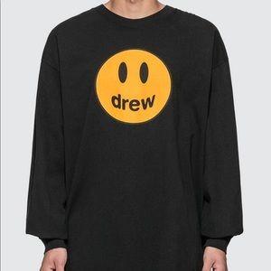 DREW HOUSE long sleeve black T shirt